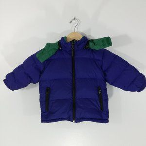 Lands End Kids Down Coat Size 3T Reversible Winter